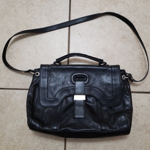 BOTKIER Black Leather Handmade Shoulder Bag Purse